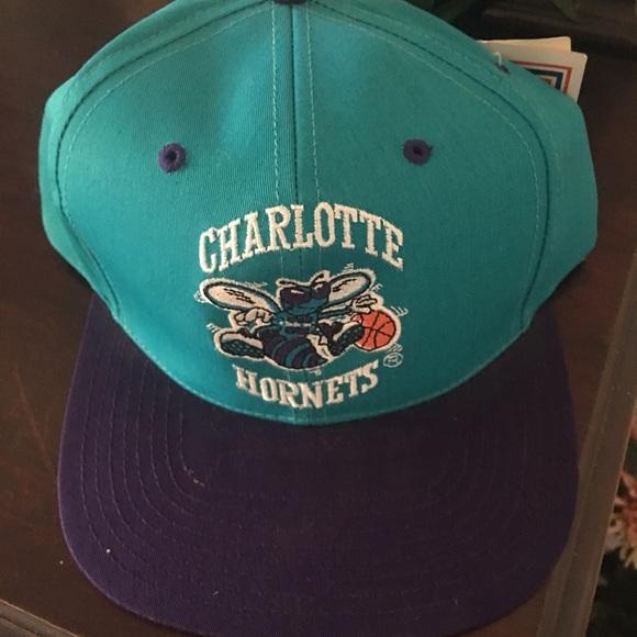 Vintage Charlotte Hornets Hat 02be9ee4931